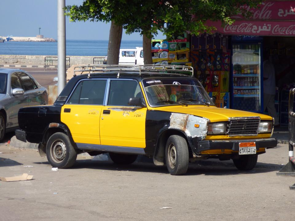 Egypt: Russian Ladas as taxis in Alexandria – travel2unlimited
