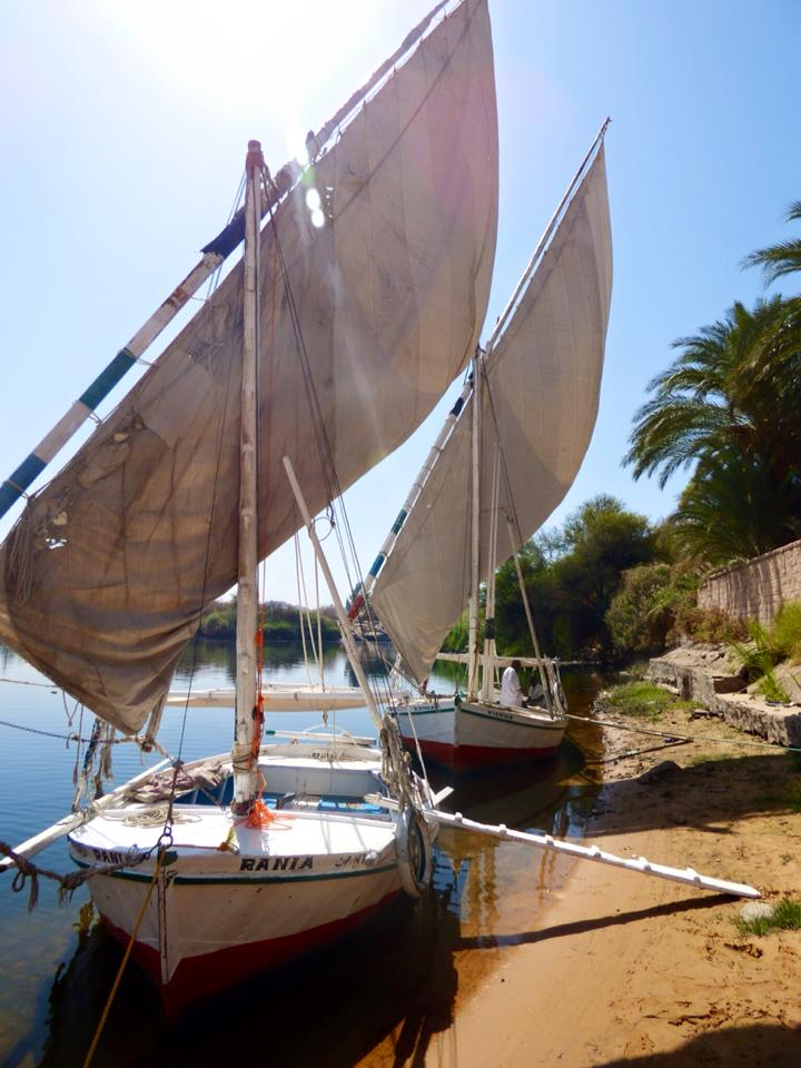 Egypt Sailing The Felucca Boat On Nile Travel2unlimited