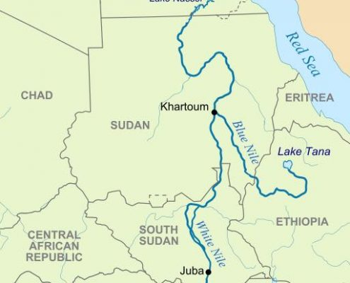 Sudan White Blue Nile Confluence in Khartoum travel2unlimited